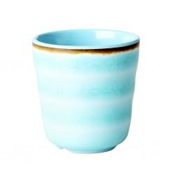 Bicchiere in melamina azzurro con fantasia vortice