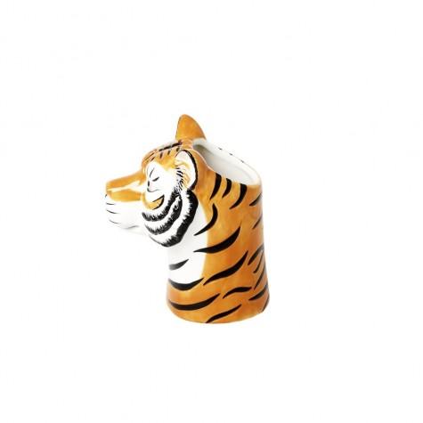 Vasetto in ceramica a forma di tigre