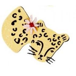 Fermaglio per capelli a forma di leopardo