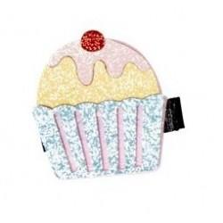 Fermaglio per capelli a forma di cupcake