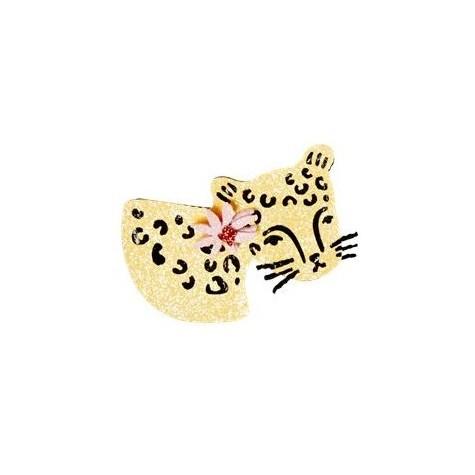 Spilla a forma di leopardo