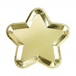 Piattini di carta a forma di stellina dorata