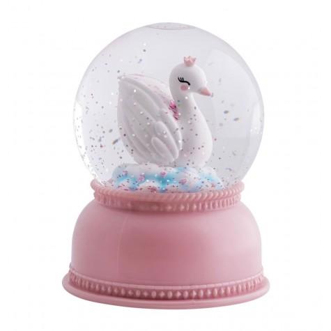 Palla di neve con cigno
