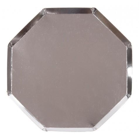 Piatti di carta color argento