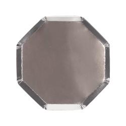 Piattini di carta color argento