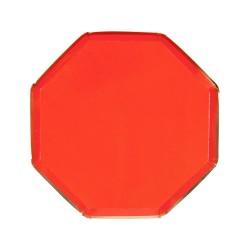 Piattini di carta colore rosso