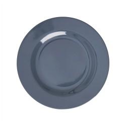 Piatto frutta in tinta unita grigio scuro