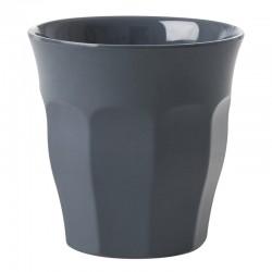 Bicchiere in tinta unita grigio scuro