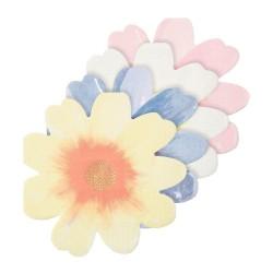 Tovaglioli di carta a forma di fiori colorati