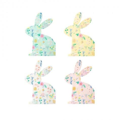 Tovaglioli di carta a forma di coniglietto pastello