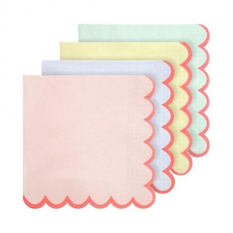 Tovaglioli di carta color pastello
