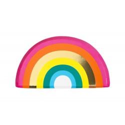 Piatti di carta arcobaleno