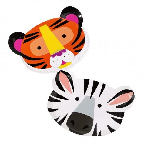 Piatti da party, animali della giungla