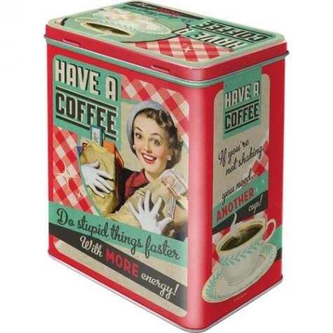 Scatola rettangolare Have a coffee