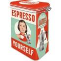 Scatola retrò Espresso Yourself