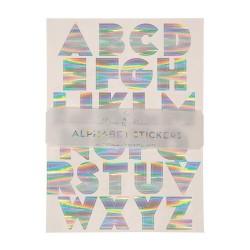 Stickers Alfabeto olografici