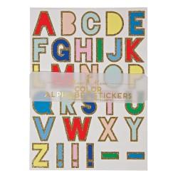 Stickers Alfabeto glitterati
