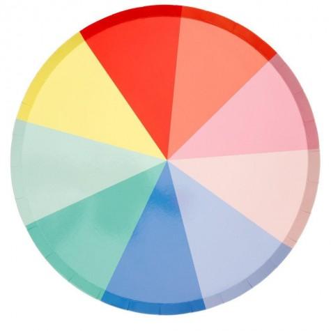 Piatti circolari fantasia raggi colorati