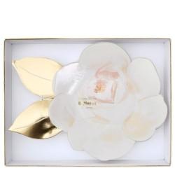 Piatti a forma di rosa bianca