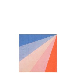 Tovagliolini di carta raggi colorati