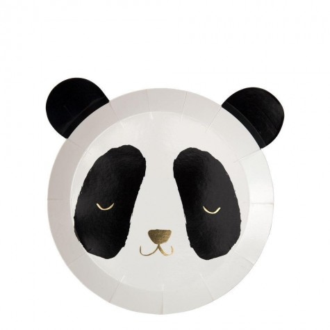 Piatti di carta Panda