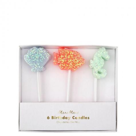 Candeline di compleanno glitterate