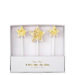 Candeline di compleanno Gold Glitter Star