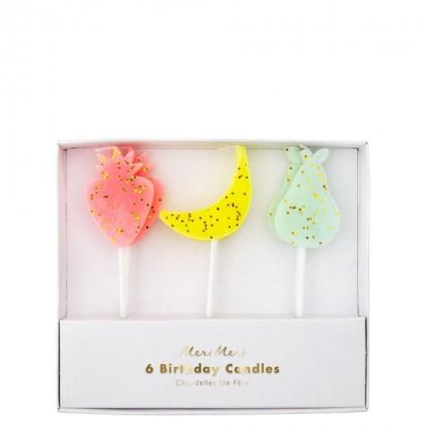 Candeline di compleanno Tutti i frutti
