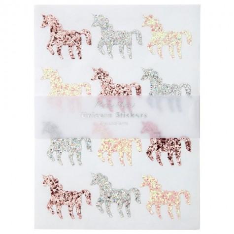 Stickers glitter Unicorno