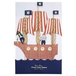 Topper per torte Nave dei Pirati