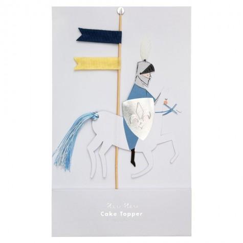 Topper decorativo Cavaliere a cavallo