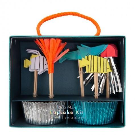 """Pirottini e decorazioni per cupcake """"In fondo al Mar"""""""