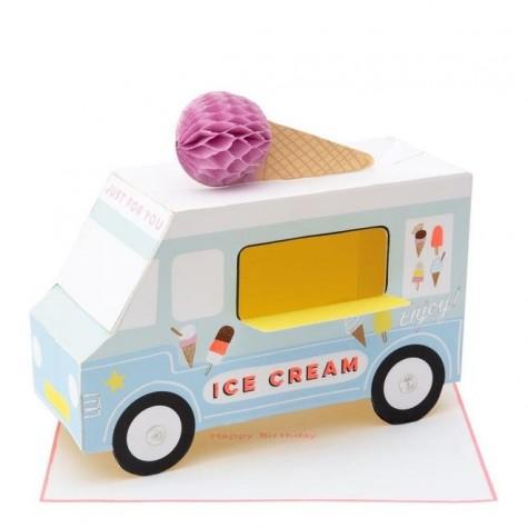 Biglietto furgoncino dei gelati 3D