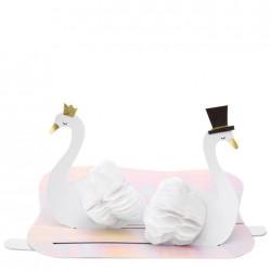 Biglietto per congratulazioni matrimonio con cigni
