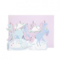 Biglietto Buon Compleanno Unicorni alati