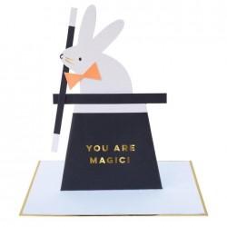 Biglietto di auguri coniglietto magico