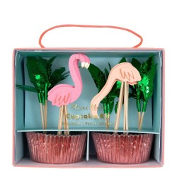 Kit per cupcakes Flamingo