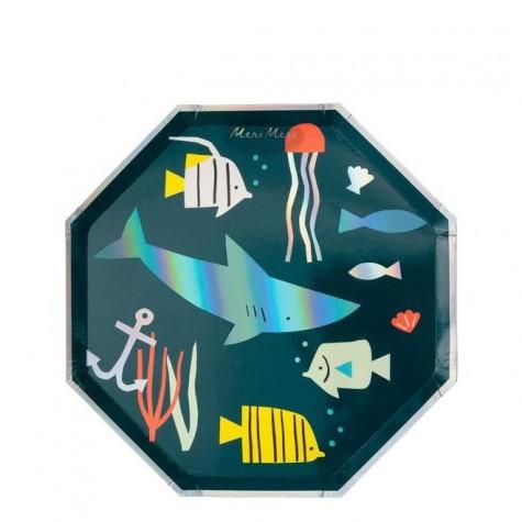 Piatti di carta fantasia In fondo al mar