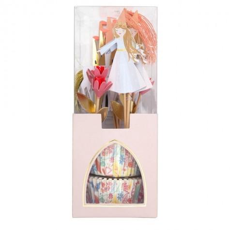 Pirottini e toppers per cupcakes Magic Princess