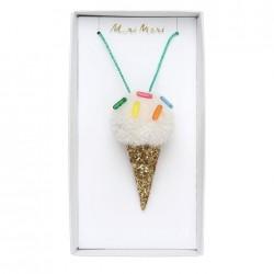 Collanina di perle con pendente cono gelato