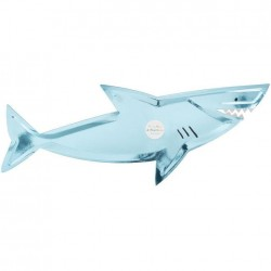Vassoi di carta a forma di squalo