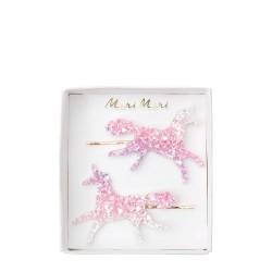 Fermagli per capelli Unicorno glitter