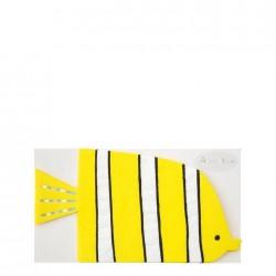 Tovaglioli a forma di pesciolino giallo