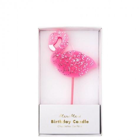 Candelina glitter Flamingo