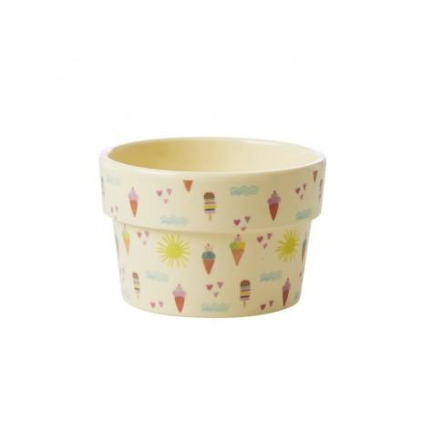 Coppetta gelato in melamina beige