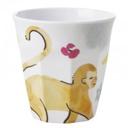 Bicchiere in melamina fantasia scimmietta