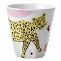 Bicchiere in melamina fantasia leopardo