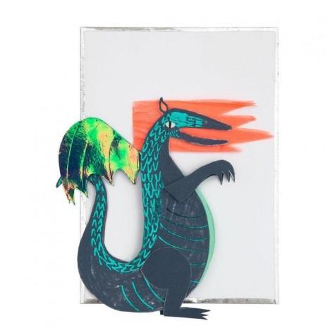 Biglietto Buon Compleanno con drago pop-up
