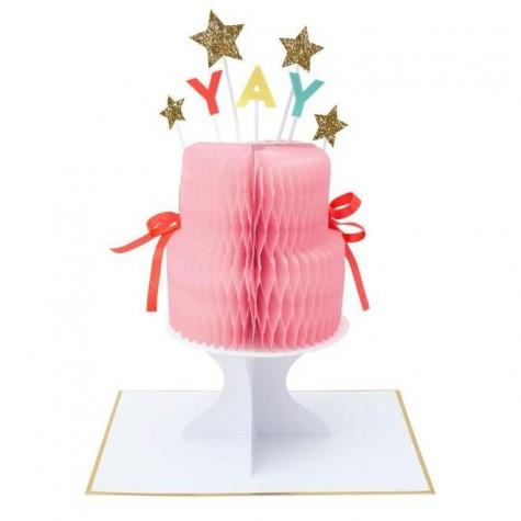 Biglietto Buon Compleanno con torta pop-up