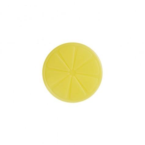 Ghiaccio refrigerante a forma di limone giallo